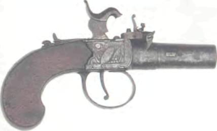 Великобритания: пистолет КАРМАННЫЙ КАПСЮЛЬНЫЙ ПИСТОЛЕТ БУС - фото, описание, характеристики, история
