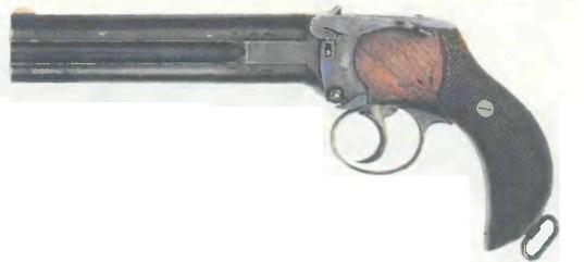 Великобритания: пистолет ДВУСТВОЛЬНЫЙ ЛАНКАСТЕР - фото, описание, характеристики, история