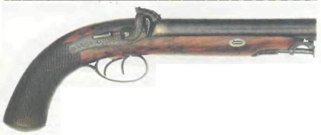 Великобритания: пистолет ДВУСТВОЛЬНЫЙ ЛЭНГА - фото, описание, характеристики, история