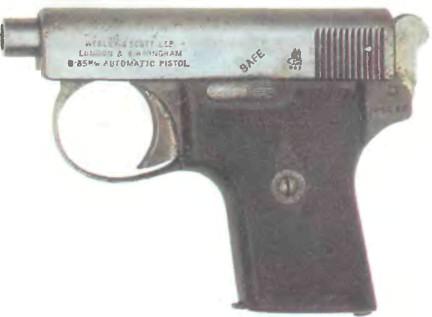 Великобритания: пистолет ВЕБЛЕЙ-СКОТТ КАЛИБРА .250 - фото, описание, характеристики, история