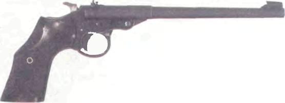 Великобритания: пистолет ЦЕЛЕВОЙ ОДНОЗАРЯДНЫЙ ВЕБЛЕЙ МК III калибра .22 - фото, описание, история