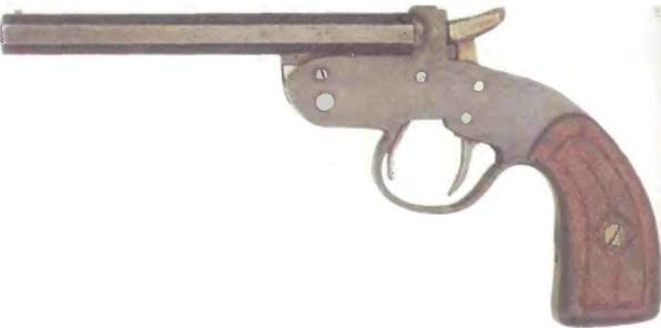 Великобритания: пистолет ОДНОЗАРЯДНЫЙ кустарного производства КАЛИБРА .41 - фото, описание, история