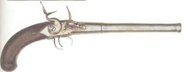 Великобритания: пистолет КРЕМНЕВЫЙ СО СТВОЛОМ ПУШЕЧНОЙ ФОРМЫ - фото, описание, история