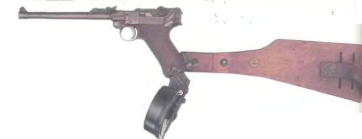 Германия: пистолет Самозарядный ЛЮГЕР, артиллерийская модель 1917 - фото, описание, история