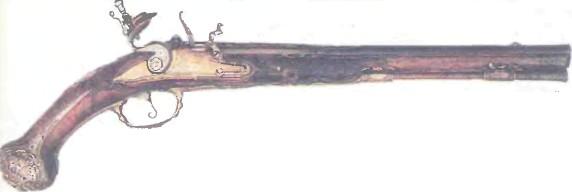 Испания: пистолет КРЕМНЕВЫЙ 1720 ГОДА - фото, описание, характеристики, история