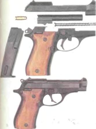 Италия: пистолет БЕРЕТТА, МОДЕЛЬ 84 КАЛИБРА 9 мм - фото, описание, характеристики, история