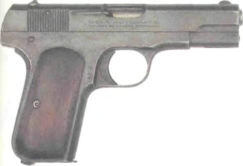 США: пистолет КАРМАННЫЙ КОЛЬТ, МОДЕЛЬ 1903 - фото, описание, характеристики, история
