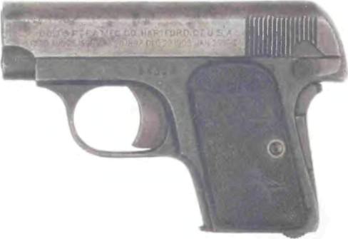 США: пистолет КОЛЬТ, МОДЕЛЬ 1908 - фото, описание, характеристики, история