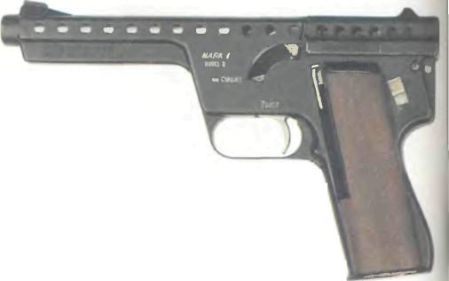 США: пистолет РЕАКТИВНЫЙ M.B.A. КАЛИБРА 13 мм - фото, описание, характеристики, история