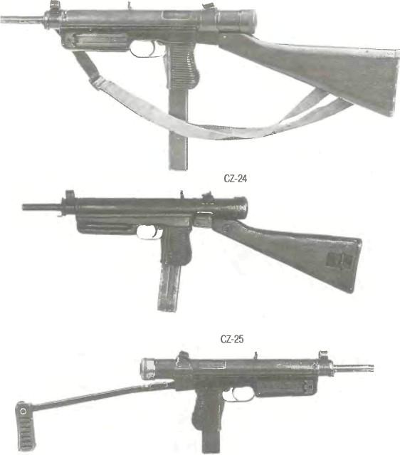 Чехословакия: пистолет-пулемет CZ-23, CZ-24, CZ-25, CZ-26,9 мм / 7,62 MM - фото, описание, история