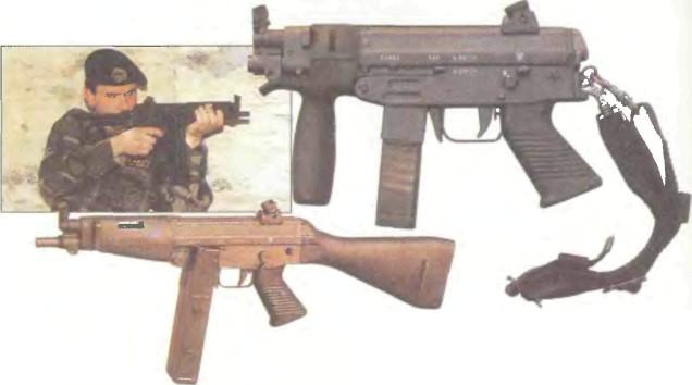 Чили: пистолет-пулемет SAF 9 - фото, описание, характеристики, история