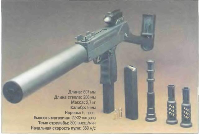 ЮАР: пистолет-пулемет МЕХЕМ ВХР - фото, описание, характеристики, история