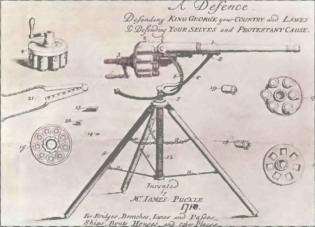 Великобритания: пулемет БАРАБАННОЕ ОРУДИЕ ПАКЛЯ - фото, описание, характеристики, история