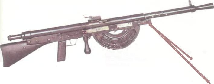 Франция: пулемет РУЧНОЙ ШОША, МОДЕЛЬ 1915 - фото, описание, характеристики, история