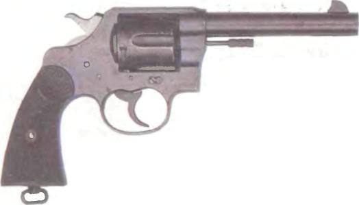 США: револьвер КОЛЬТ НЬЮ СЕРВИС, М1909 - фото, описание, характеристики, история