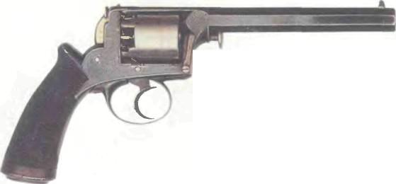 Великобритания: револьвер САМОВЗВОДНЫЙ КАПСЮЛЬНЫЙ АДАМСА калибра .440 - фото, описание, история
