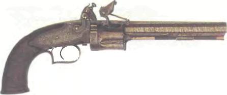 Великобритания: револьвер КРЕМНЕВЫЙ КОЛЛЬЕРА - фото, описание, характеристики, история
